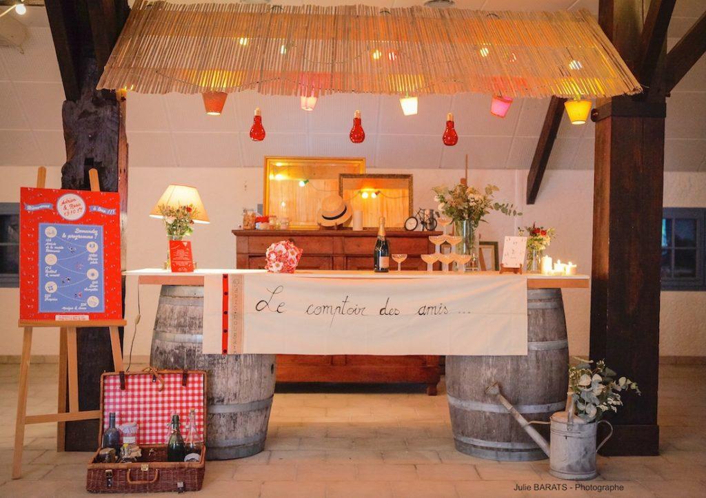 Bar des amis dans la salle du coq en pâte